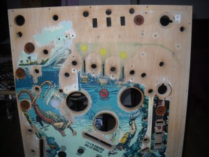 restauration Plateau de Fathom flipper bally 1980